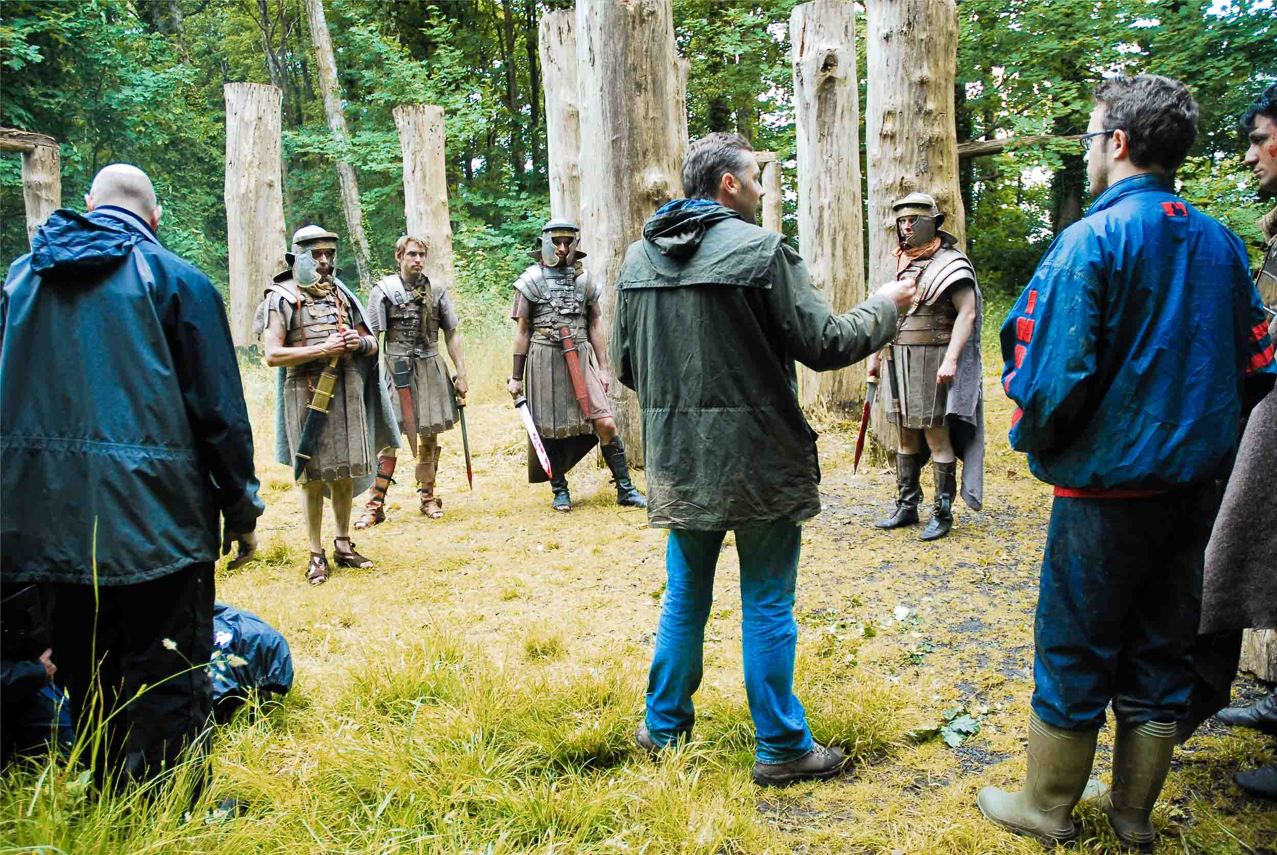 Damp on location in Wales, directing 'Julius Caesar and the Druids'