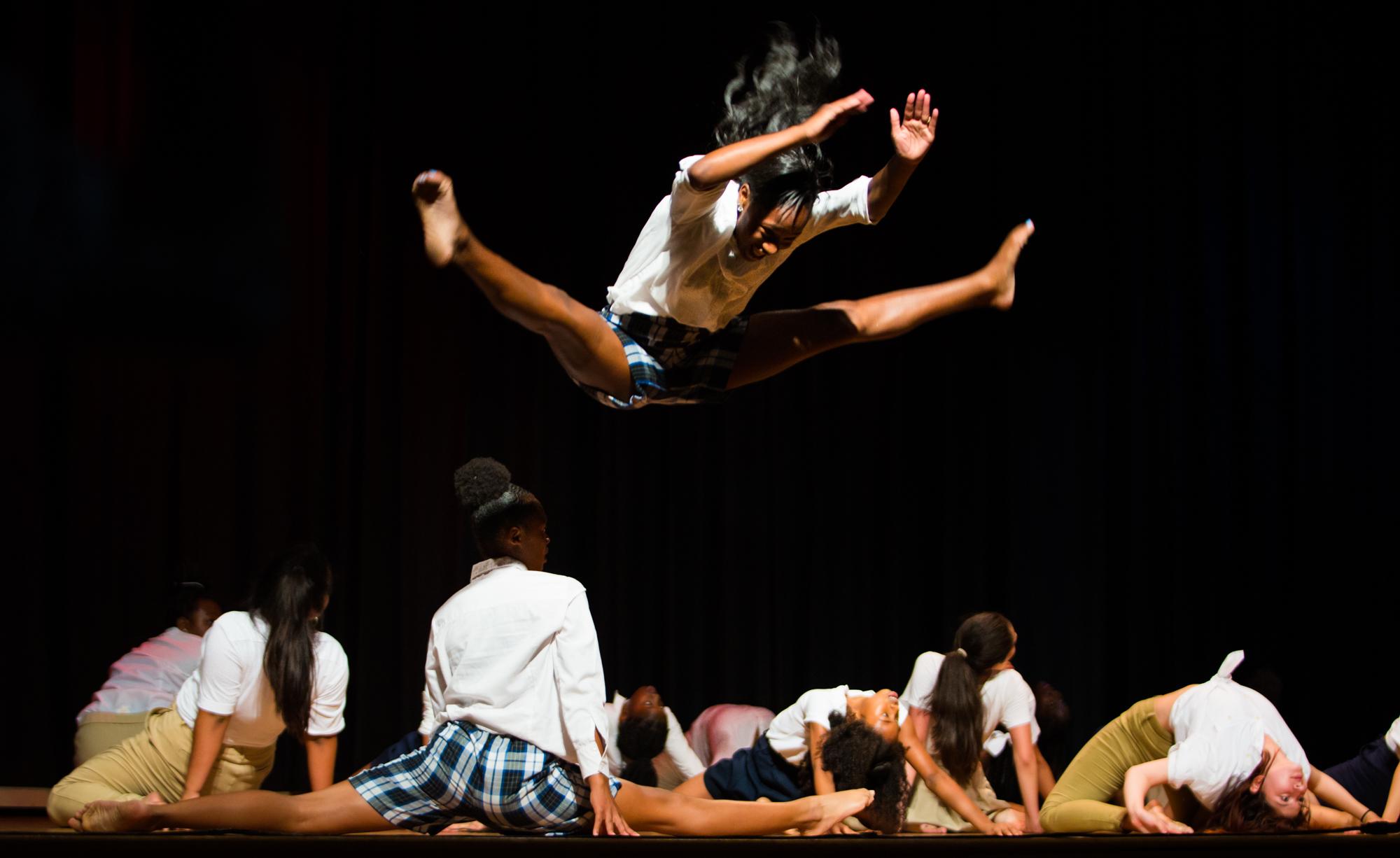 Dorsey High School Performance, Los Angeles   Photographed for CAP (Community Arts Partnership)