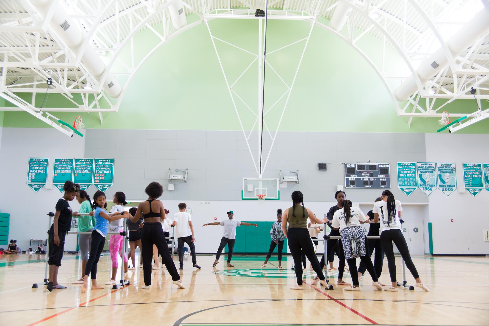Dorsey High School Dance Class, Los Angeles   Photographed for CAP (Community Arts Partnership)