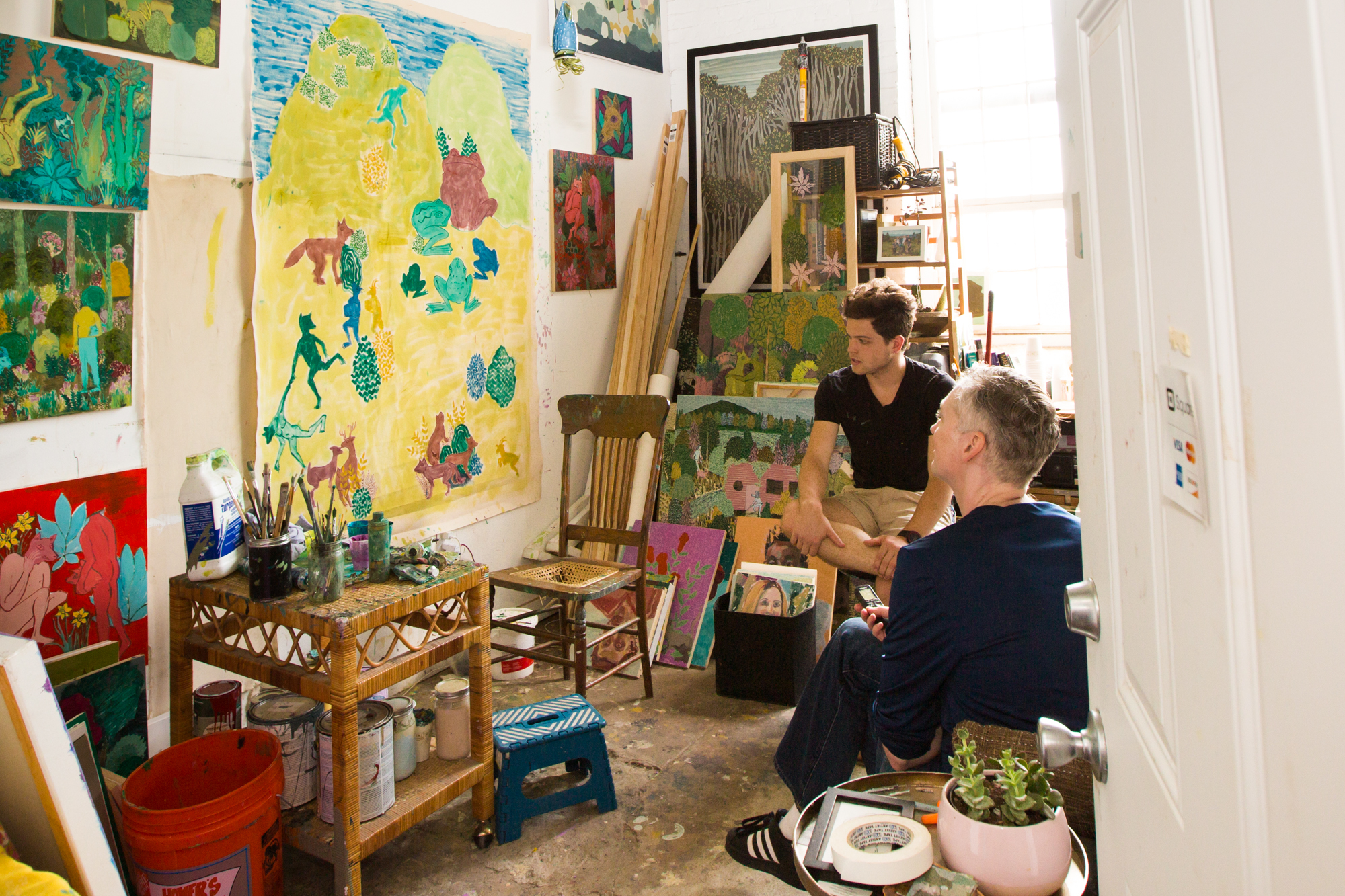 Artist Andrew Cantanese   In the Studio with Midtown MARTA Muralist, Andrew Cantanese