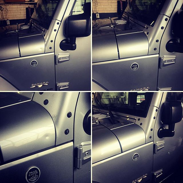 Most common dent on a Jeep Wrangler is??? #itsajeepthing #stldentco #dents
