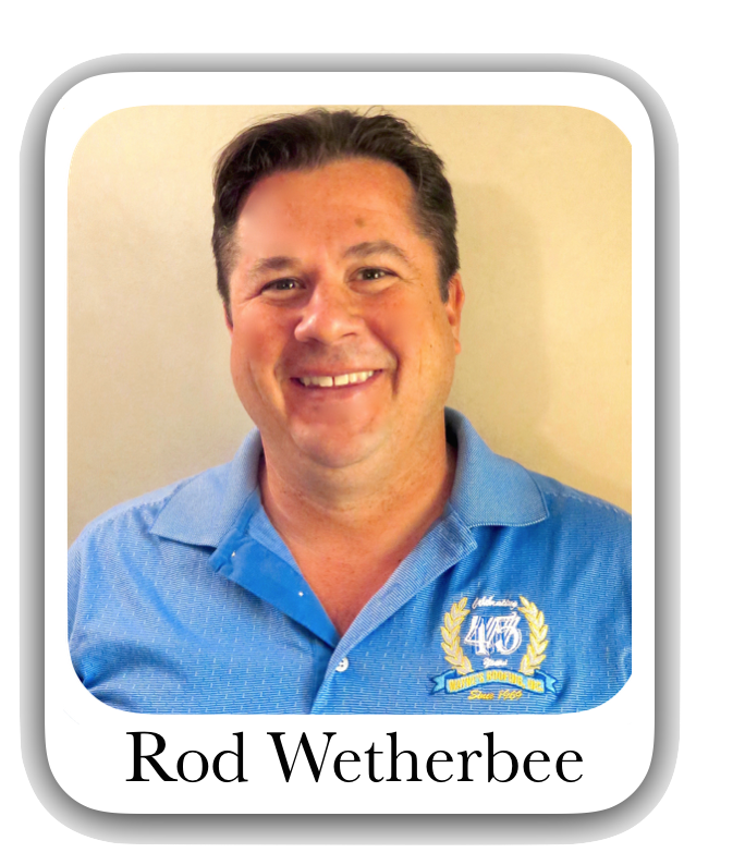 PRESIDENT/CEO  Rod has over 30 years of experience with Wayne's Roofing, Inc. performing everything from hands on roofing application to on-site project management, roof estimating and sales.  As one of the owners of Wayne's Roofing, Inc., his  main focus is sales and marketing.   Rod actively pursues new potential customers and ensures that past customers' needs are satisfied, while overseeing the sales staff team and assists with company wide management decisions.  Email: Rod Wetherbee