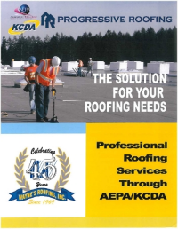 Read more on our professional roofing services though AEPA/KCDA here