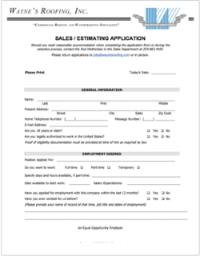 Sales / Estimator PDF Application