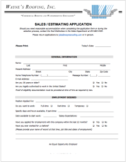 Sales/ Estimating Application