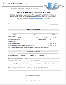 Office Administration Application
