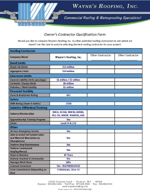 Click image to view a PDF version of the Contractors Qualification Form