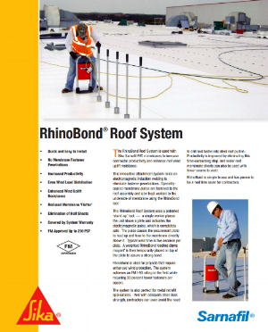Read more about the benefits of RhinoBond Roof System here. .