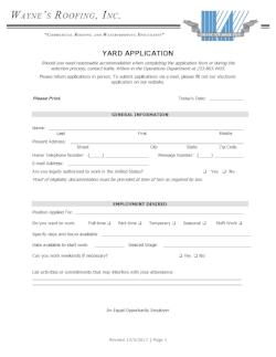 Yard Application
