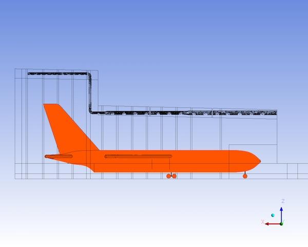 2D Model of Air craft Hangar