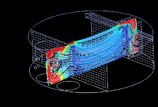 OG-1 Velocity Streamlines inside the produced water skim tank-Elevation View_A.jpg