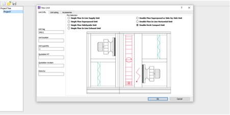 AHU Selection Software - Template Selection