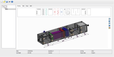 AHU Selection Software - 3D Screen