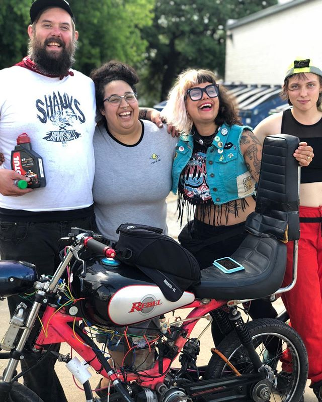 Meant to post this one! #bakersdozenrun #bakersdozenrun2018 #mopedarmy #austinmopeds