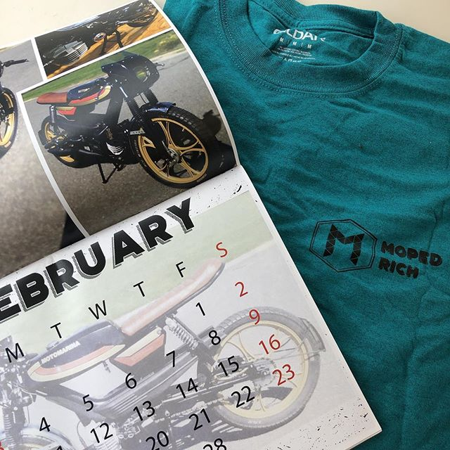 @mopedrich sweet calendar and awesome color shirt. Keeping us Lookin fly and always on time.