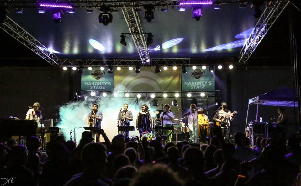 Camp Euforia Main Stage 2015  Euf órquestra Big Band feat: Kim Dawson (vocals), Jennifer Hartswick (vocals), Matt Grundstad (percussion), and Robert Espe (Saxophone).