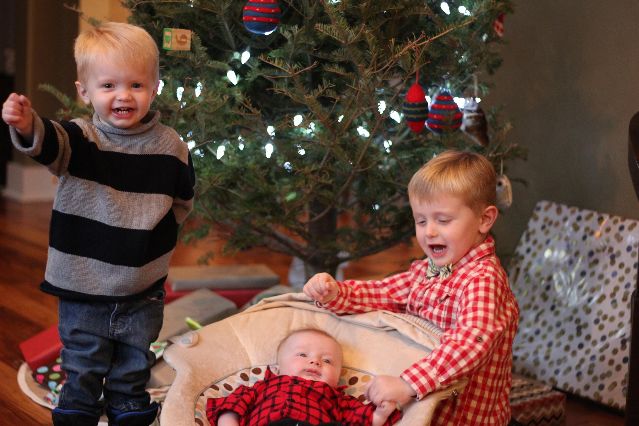 Walter, Lewis, & Oliver excited for Santa!