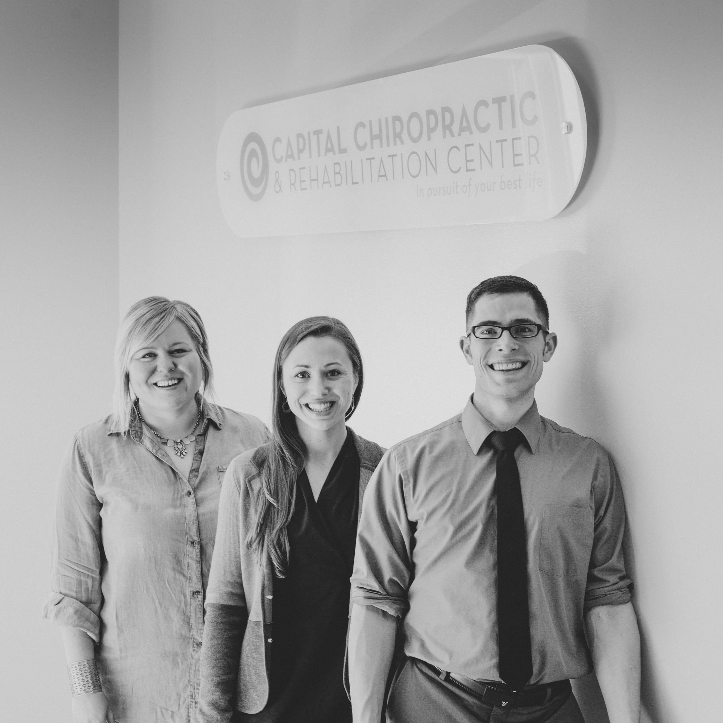 The Capital Chiropractic crew (from left to right): Jen Morrow, Abbie Sawyer, and Dr. Chris LoRang