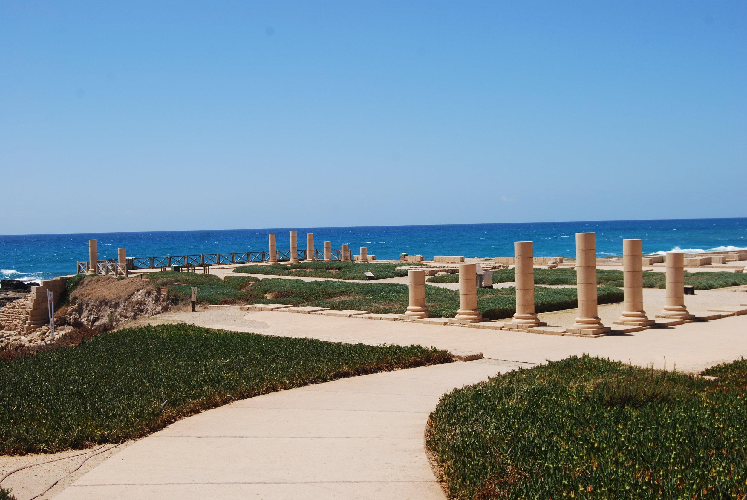 King Herod's palace at Caesarea Maritima.