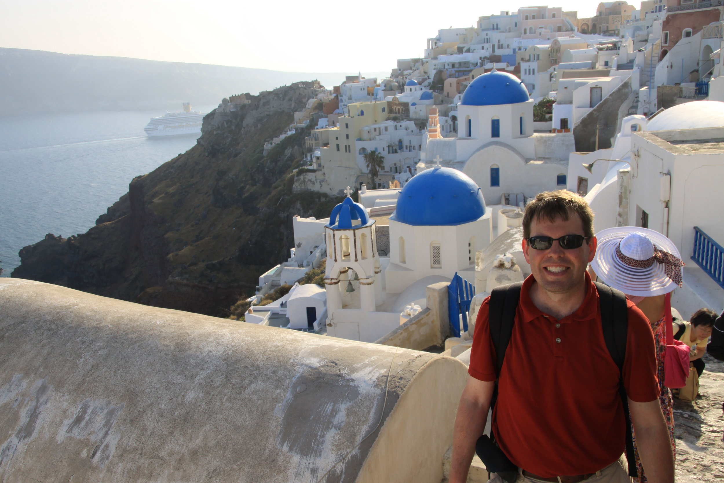 Dan Kingsley, on the beautiful island of Santorini.