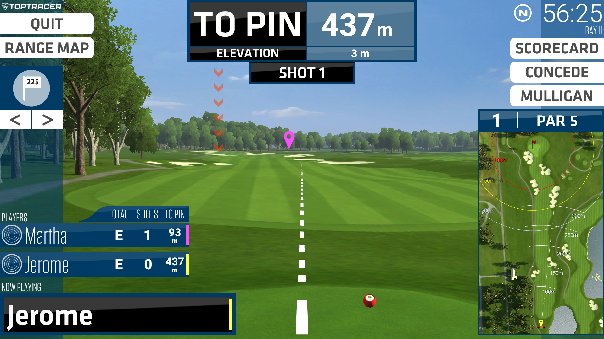 Play a round of golf using Top Tracer Virtual Golf