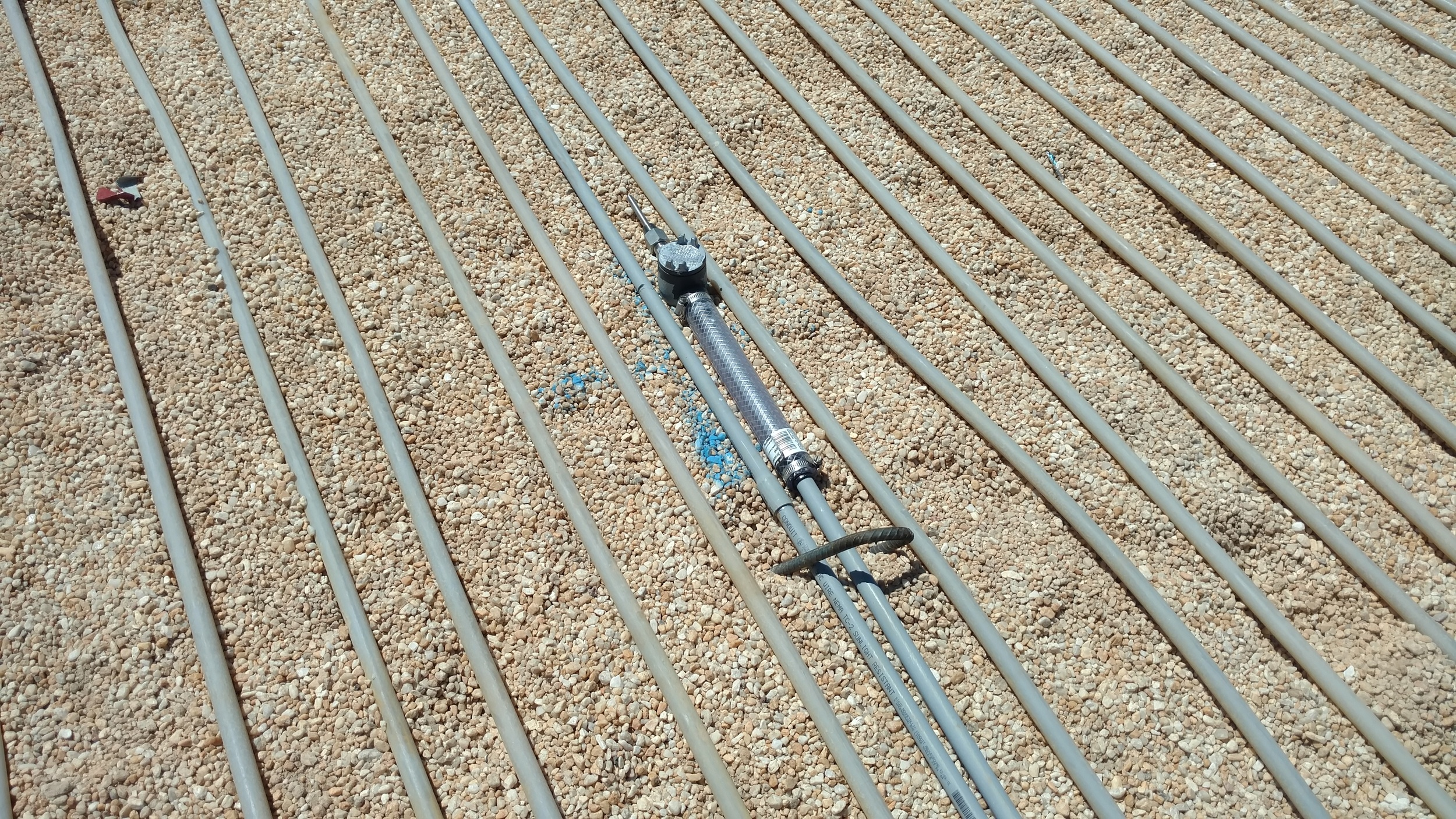 Hydronic rootzone warming system - soil temperature probe
