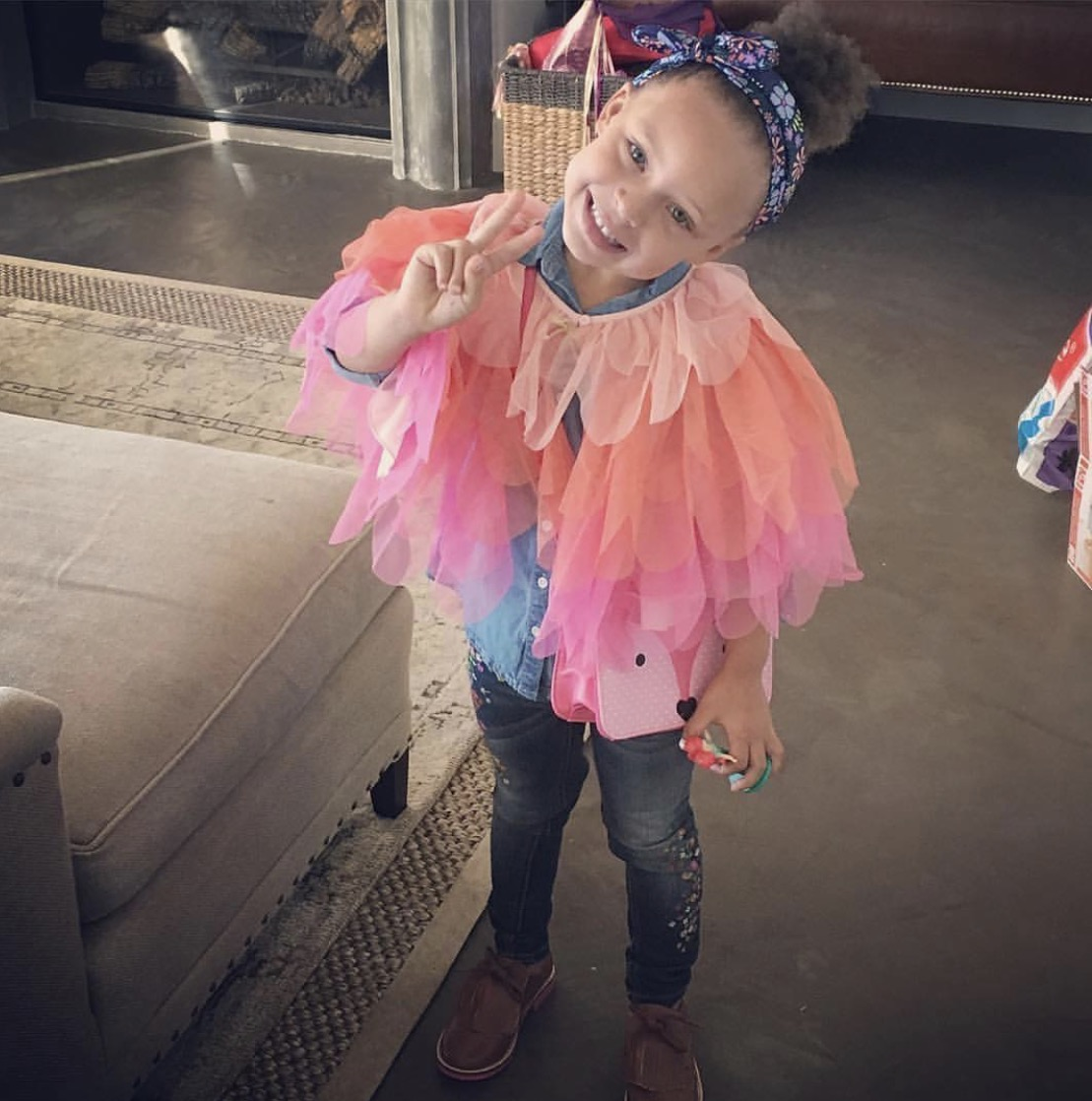 Riley Curry, daughter of NBA star Stephen Curry, wore her brogues on her 4th birthday.