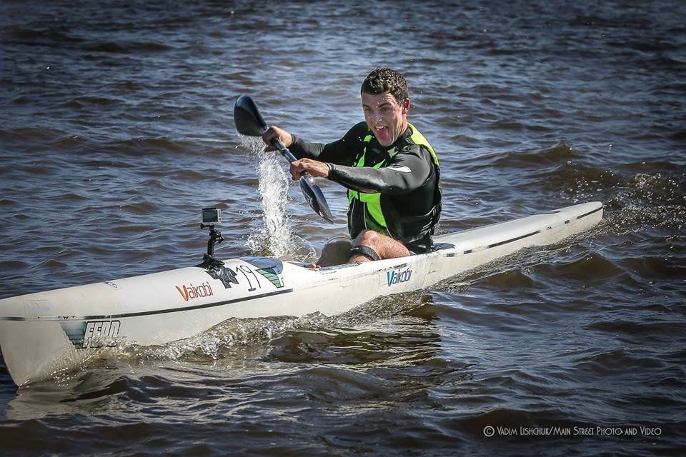 "Sean Rice has described Kieffer as a paddler ""who paddlers with his heart"".  On the old Fenn at the Northshore Cup---Photo Vadim LIshchuk"