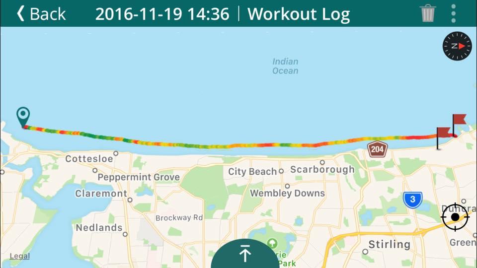 Course Runs Tight Along the Coast