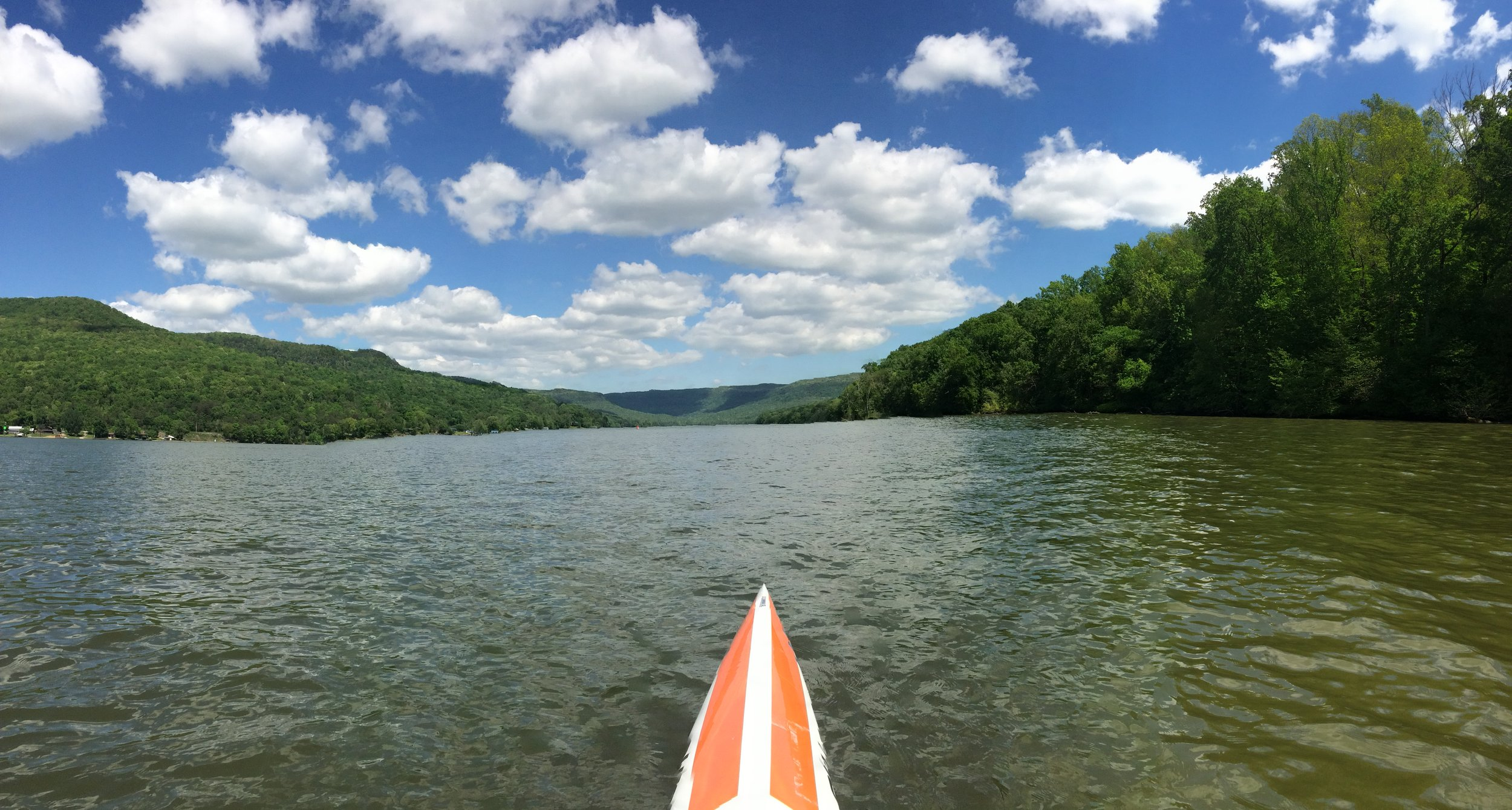 Tennessee River heading towards Mullin's Cove from downriver