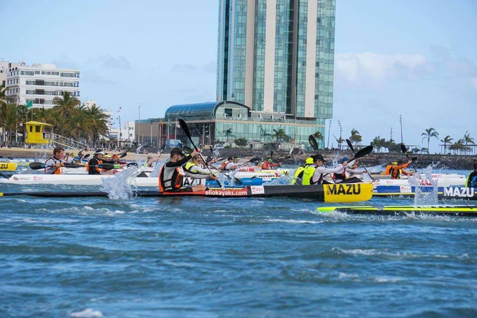 Start of The Atlantic Ocean Surfski Race