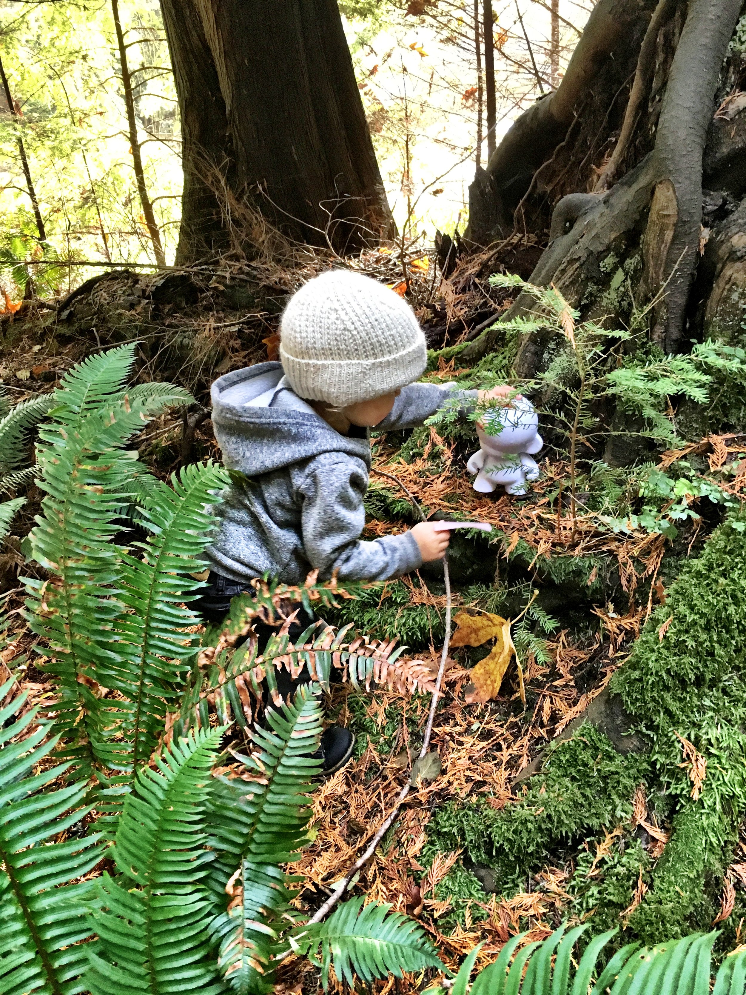 Hidden treasures with secret messages were found throughout the forest that even the youngest wanted to wander quietly in the woods.