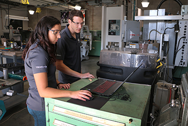 SME Pres Steven Hoover and SME Treasurer NIna Menon working with ProtoMAX - Preview.jpg