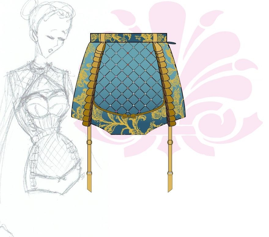 WIP: Baroque Booty Short Look. I'm obsessed with it already!