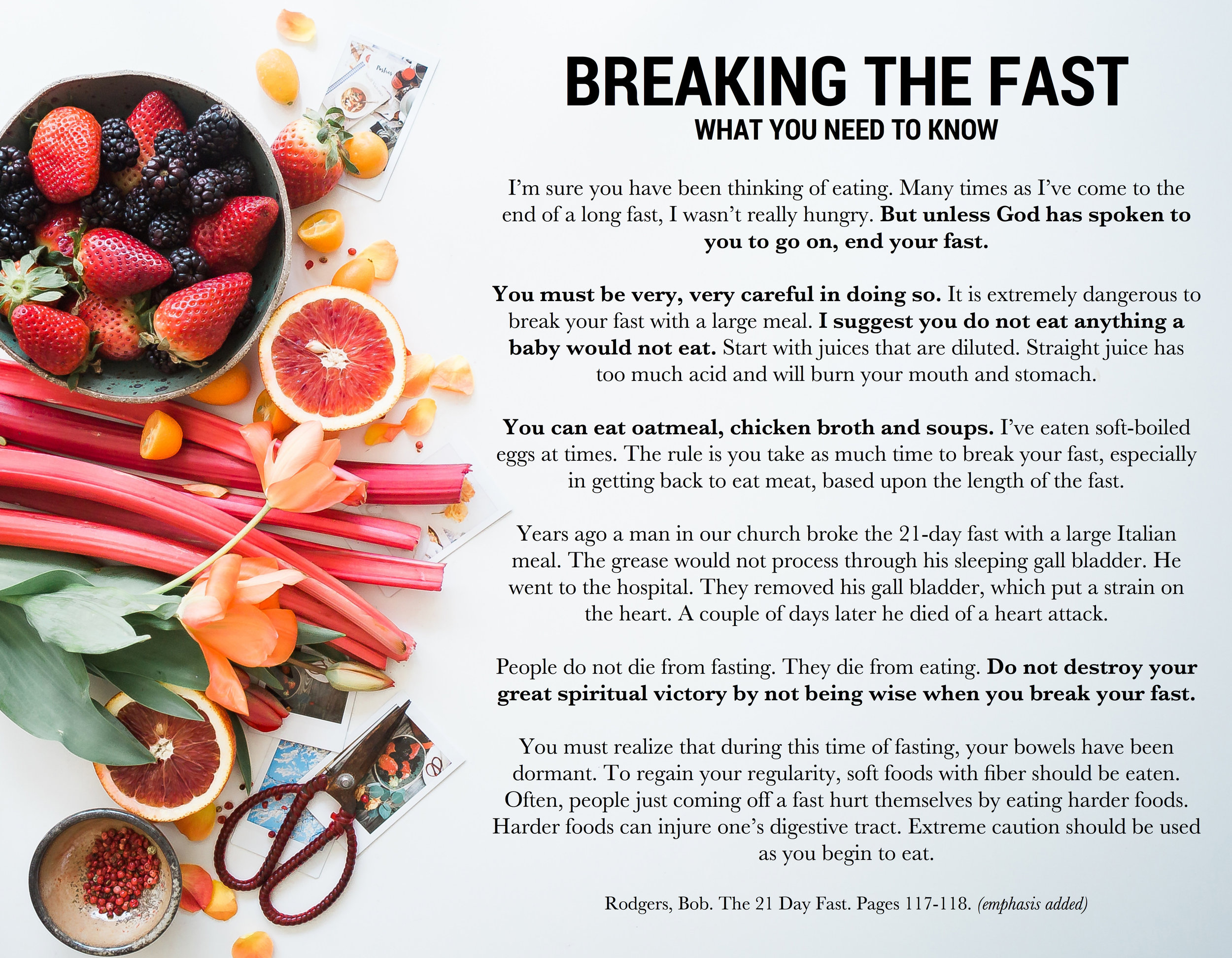 Breaking the Fast — New Life Church
