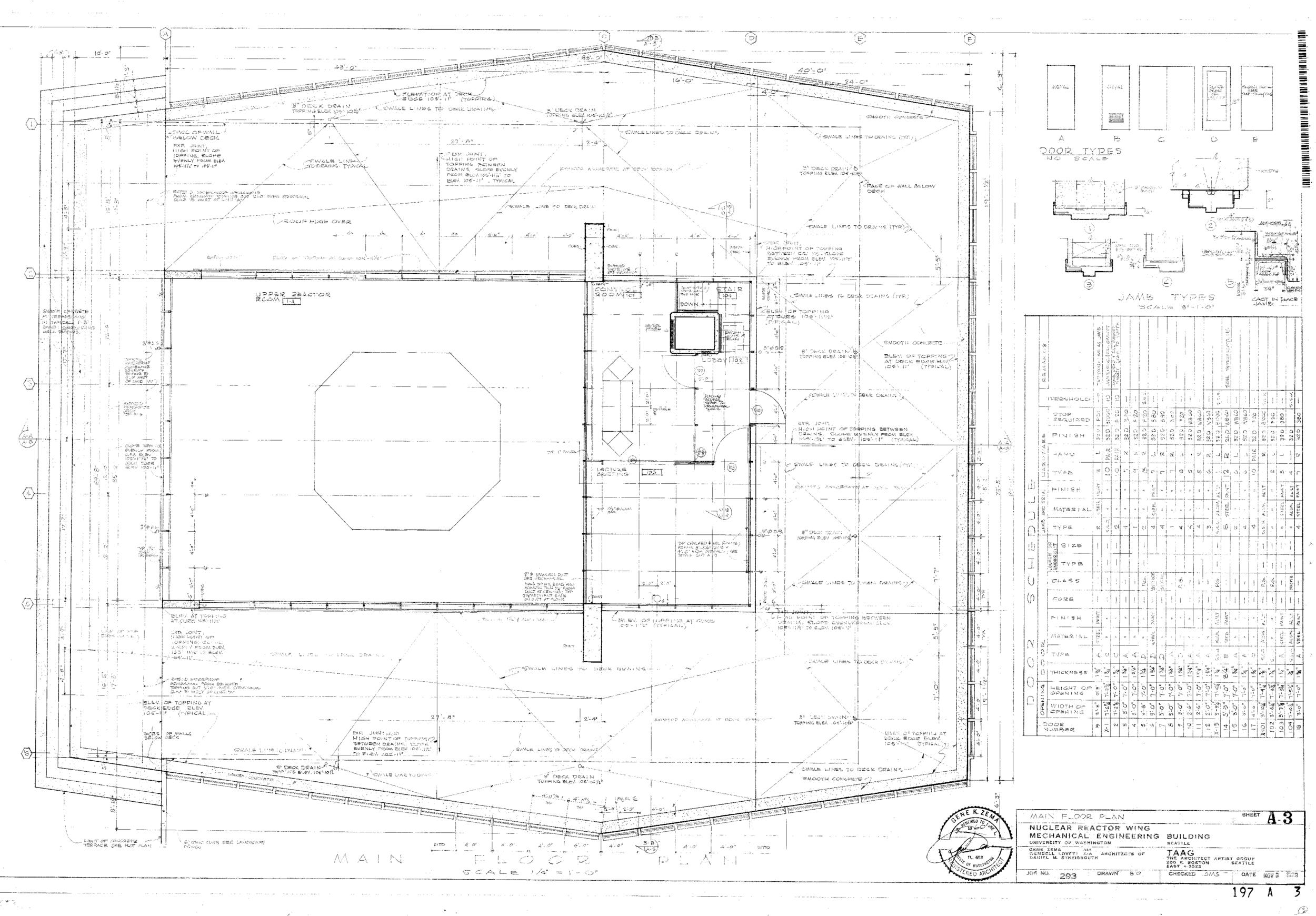 Nuclear Reactor Building - Main Floor Plan