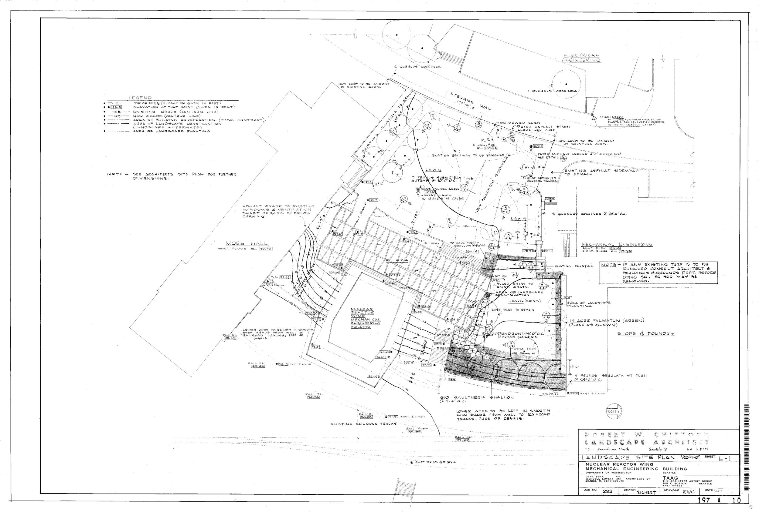 Nuclear Reactor Building - Landscape Site Plan