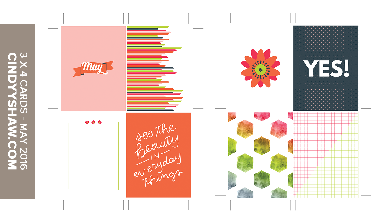 may project life journal cards 3x4 freebie download