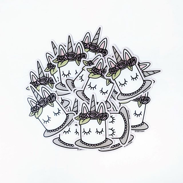 🎉It has begun!🎉 Birthday Deal #1: Receive this new unicorn cake sticker with any order! - This offer ends in the morning when I post the next sale in my story 🙂 Don't forget the 30% off all orders $30+ through August 11! Multiple birthday bash orders will ship in one package next week (shipping overage will be refunded) - For those of you who tagged a friend in my last post, you get VIP free shipping all weekend! I've already recorded all the names, so don't go back and try to comment now � 🦄🦄🦄 #unicorncake #stickermule #vinylstickers #birthdaysale #etsysale #shopsmall #stickercollection #cys30