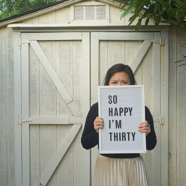 💩💩💩 30 years ago, I was born at 8 something on 8/8 #auspiciousbaby - I saw someone post this quote on their 30th and I totally put it in my brain's pocket until now. S H I T is right! Also how do you like my shed? Possums aside, I actually love taking photos in our weird yard � - Hello, caption reader! 🌭 lovers should head to my story rn 🙃 💩💩💩 #sohappyimthirty #letterboard #30thbirthday #flashsale #meettheartist #birthdaysale #thisis30 #30isthenew20 #existentialcrisis