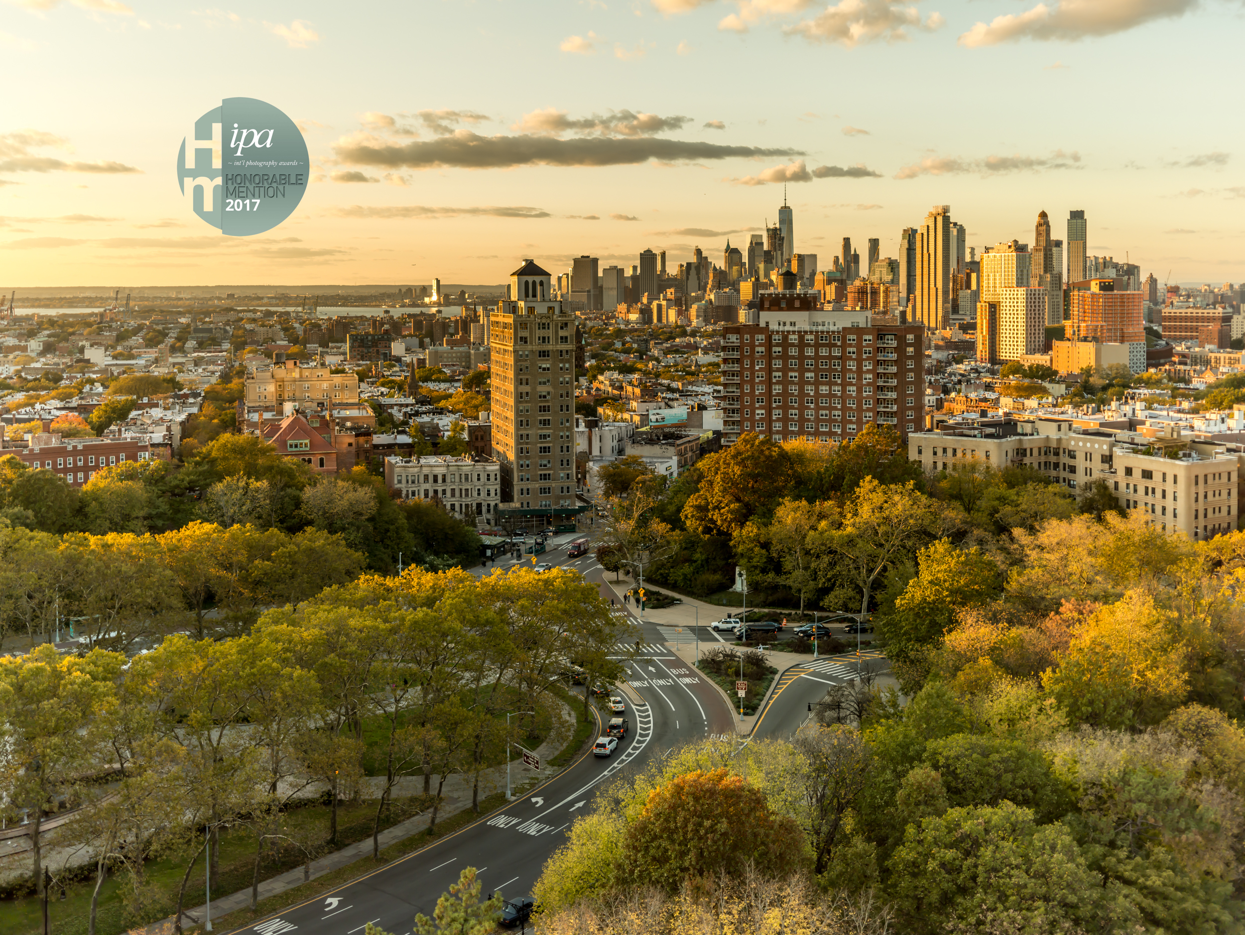 New York City, A View from Grand Army Plaza, Brooklyn