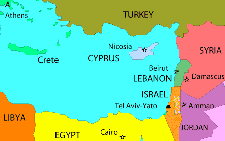 Where is Cyrprus on a map?