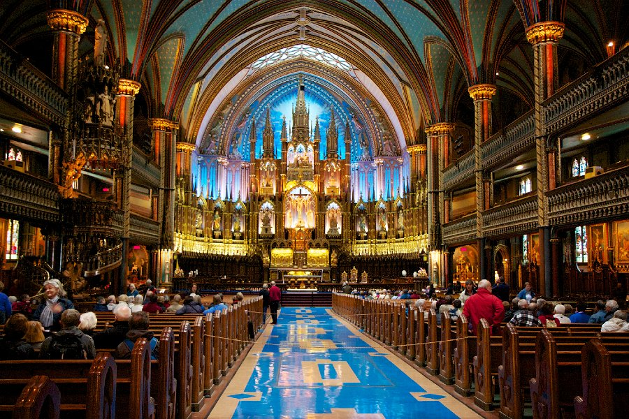 Photo Credit   Evidently, Montreal has more restaurants per capita than New York City. So rest assured, if you choose to visit Montreal, you won't go hungry. Try the Poutine at  La Banquise  (994 Rachel Est), brush up on your French, and take in the striking beauty of the Basilique Notre-Dame, the chapel where Céline Dion got married!