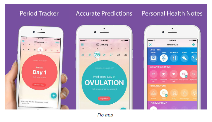 17. Flo - Flo isn't just a period tracker. With a beautiful and simple-to-use interface, Flo also tracks ovulation, steps, and mood, in order to provide insights into your cycle over time. Better predict the beginning of your period, and gain a better understanding of how hormones are affecting your mood around this challenging time.