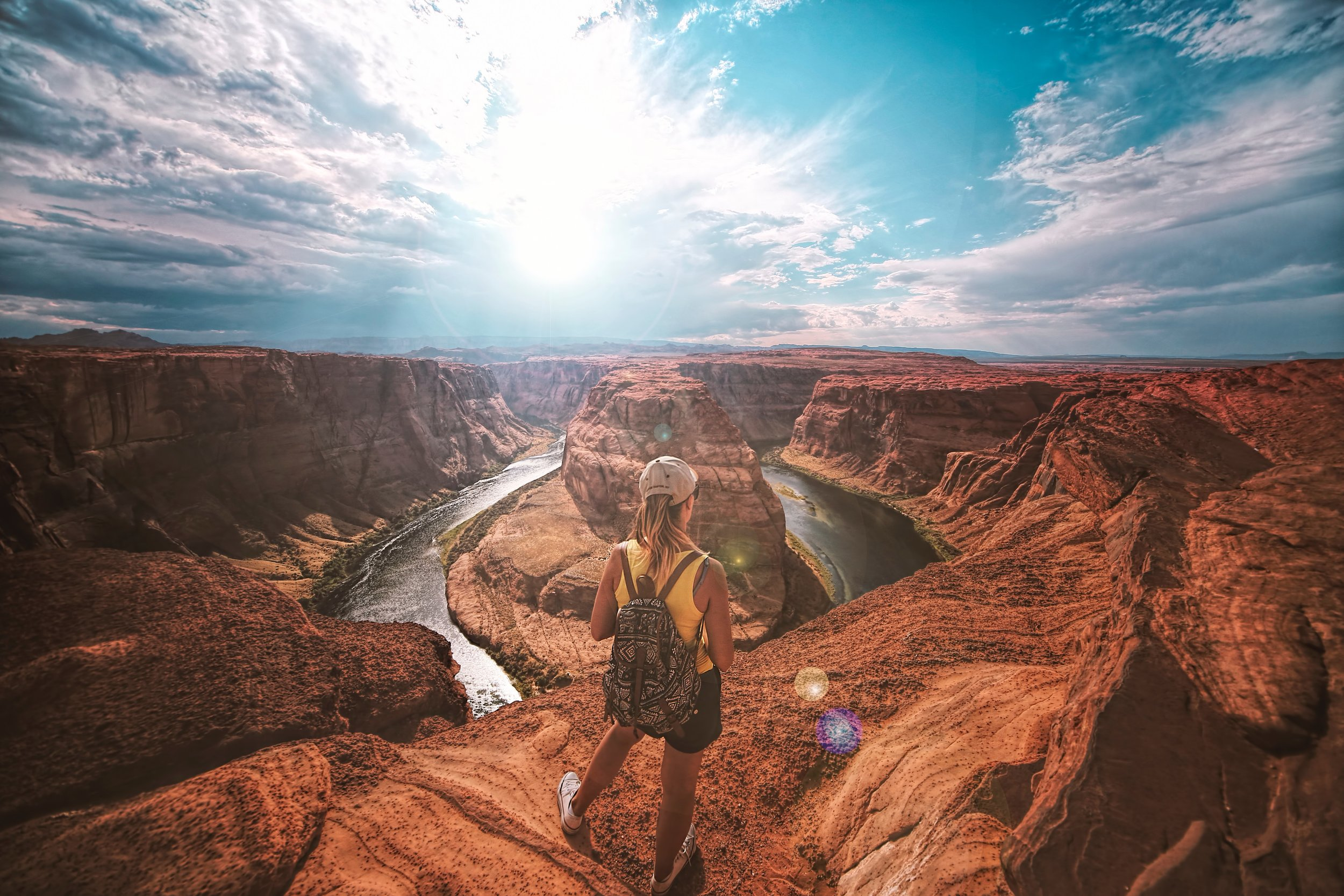 """1.Grand Canyon - You don't get to be called one of the Seven Wonders of the Natural World if you're """"just mediocre"""". The Grand Canyon Rim-to-Rim Hike lives up to its honorable name. This trail is not for the faint of heart as it includes a 14.3 mile trek down 6,000 feet to the bottom of the canyon followed by a 4,500 foot climb and a 9.6 mile hike back out to the South Rim. If you're up for it, the beauty of the Grand Canyon is unmatched, and definitely a hike you should add to your bucket list!"""