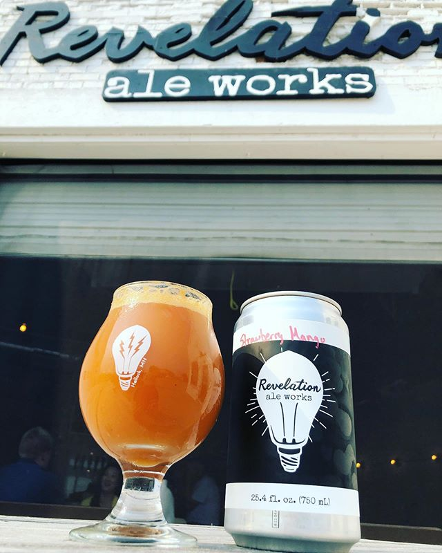 Strawberry Mango Smoothie Sour is on tap and in crowlers! Come grab yours before it's gone. . . #hallockmn #craftbeer #drinklocal #revelationaleworks #itsarevelation #sourbeer #handmadeinhallock