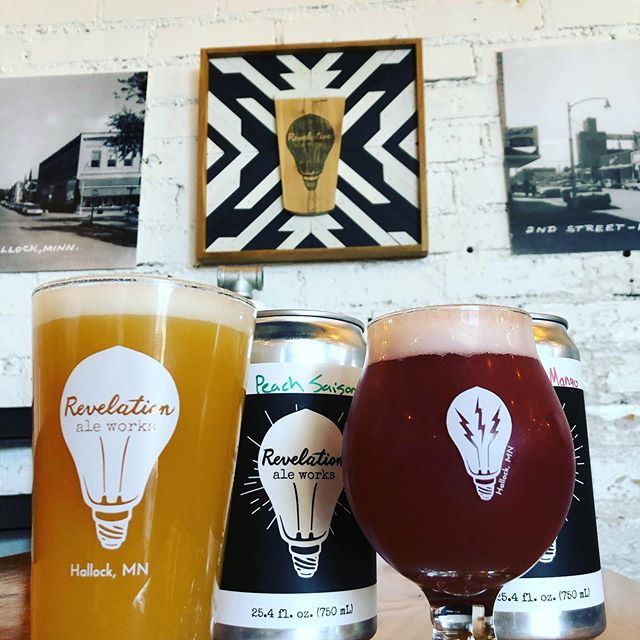 This is one of our favorite spots to drink beer, because there's beer here! Who out there has a plan for having a Revelation today and settling in to a favorite beer drinking spot? . . #itsarevelation #revelationaleworks #craftbeer #hallockmn #drinklocal #taproom #beeroclock #handmadeinhallock