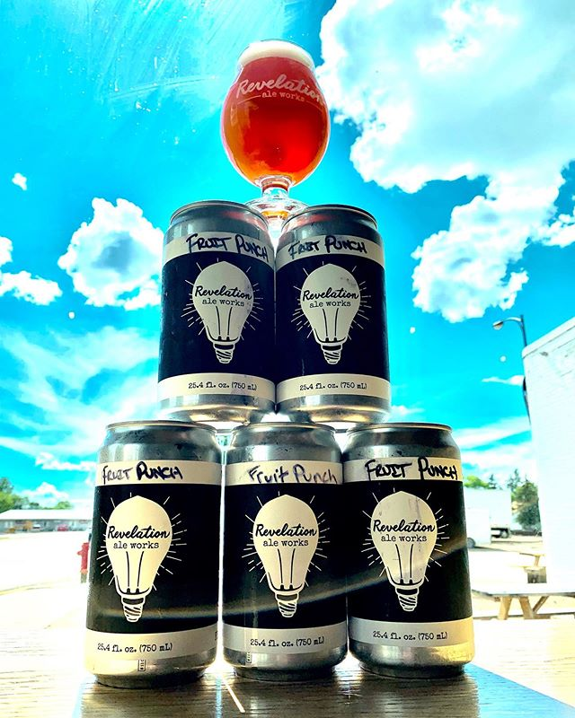 🥊🥊🥊FRUIT PUNCH SMOOTHIE SOUR CROWLER RELEASE🥊🥊🥊 Starting Wednesday, June 19th, we are releasing 50 of these bad boys in the taproom for sale, no limits, $9. . . . . #itsarevelation #handmadeinhallock #mnbeer #mncraftbeer #revelationaleworks  #drinklocal #hallockmn #smoothiesour #themashup