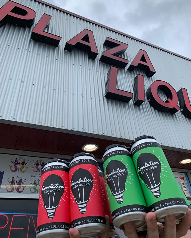 ALEXANDRIA! We're in town @djstaphouse for our Patio Party, and decided to drop some cans off as well! You can find Cherry Sour and Hazy Pale Ale at Downtown Liquors and Plaza Liquors! . . . . #itsarevelation #mnbeer #hallockmn #revelationaleworks #handmadeinhallock #mncraftbeer #drinklocal #alexandriamn