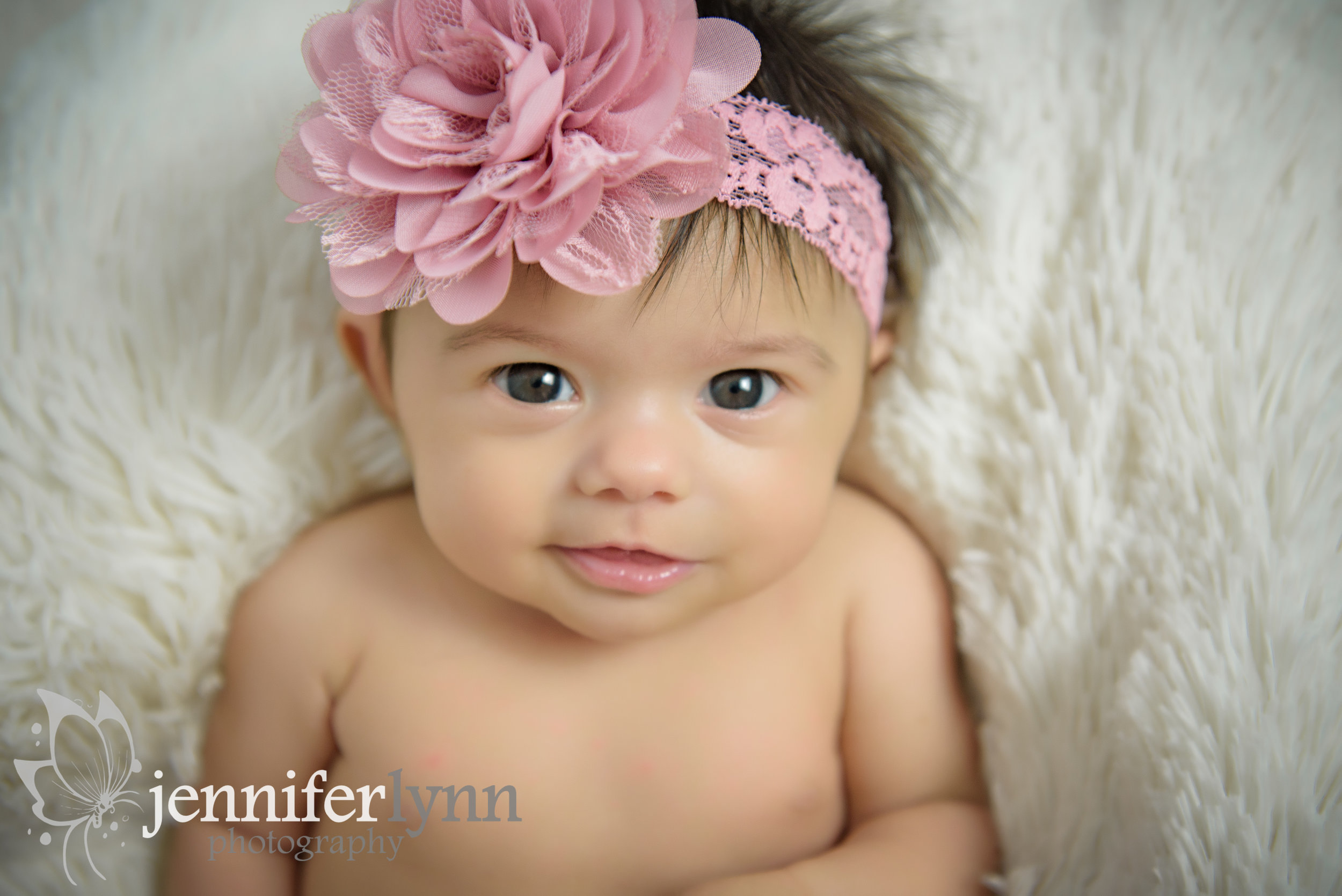Big Eyes Baby Girl Pink Headband